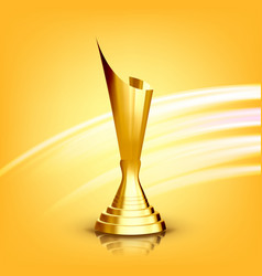Golden award cup gilded metal object vector