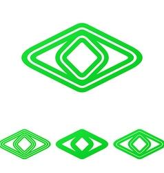 Green line eye logo design set vector image