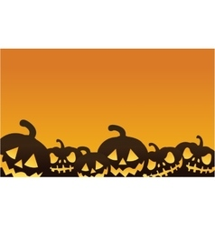 Halloween pumpkin orange backgrounds vector image