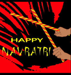 Happy navratri vector