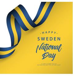 Happy sweden national day template design vector
