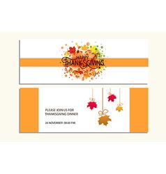 Happy thanksgiving banners with icon logobadge vector