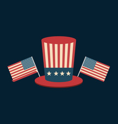 Hat usa independence day celebration vector