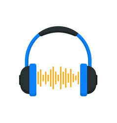 headphones with equalizer vector image