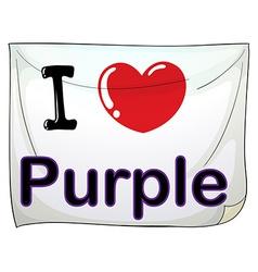 I love purple vector image