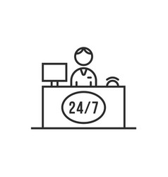 Icon of reception service hotel or business office vector