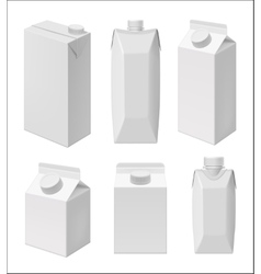 Juice and milk blank packaging template vector