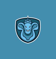 king frog mascot logo vector image