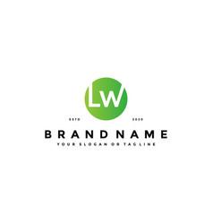 Letter lw logo design vector