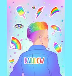 Lgbt poster design gay pride lgbtq concept vector