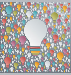 Light bulbs creativity and cooperation concept vector