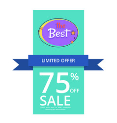 Limited offer 75 off best night sale banner vector