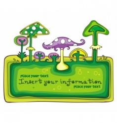 mushroom frame vector image