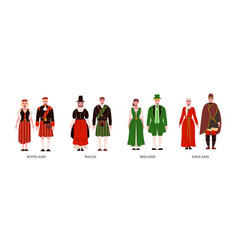 People in national costume set vector