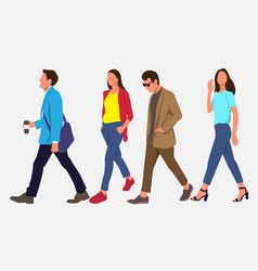 people walking on street vector image
