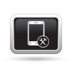 Phone icon with tools menu vector image