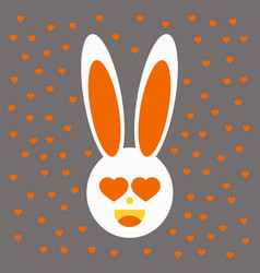 pink cute bunny pattern vector image