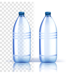 plastic bottle fresh template bluer vector image