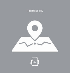 pointer and map - flat minimal icon vector image