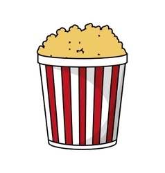 Pop corn of fair food design vector
