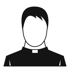 Priest icon simple style vector image