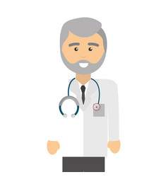 professional doctor specialist with glasses and vector image