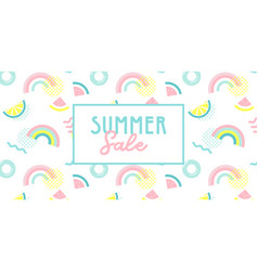 promo web banner template for summer sale summer vector image