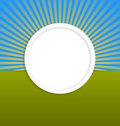 Round design element with rays vector