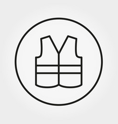 Safety vest icon editable thin line vector