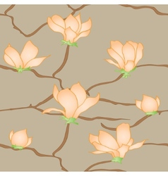 Sakura flowers seamless abstract pattern vector image