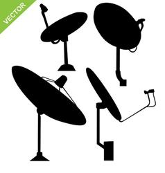 Satellite dish silhouette vector image