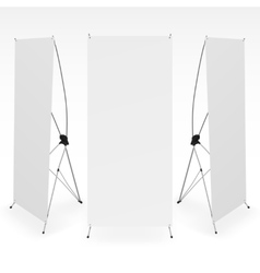 set blank x-stand banners display template vector image