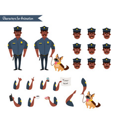 set of colorful isolated policeman at work vector image