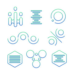 simple science logo set vector image