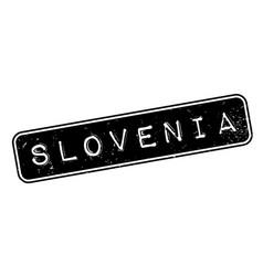 Slovenia rubber stamp vector