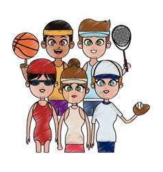 sports people icon image vector image