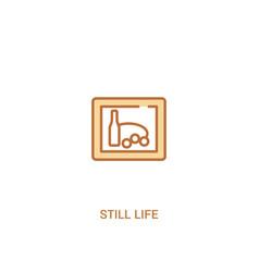 Still life concept 2 colored icon simple line vector