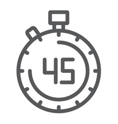 stopwatch line icon countdown and time timer vector image