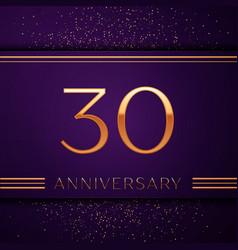 Thirty years anniversary celebration design banner vector