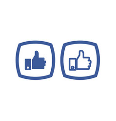 thumb up icon button vector image
