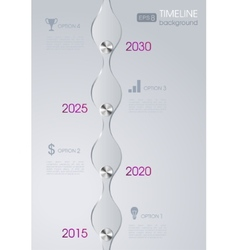 Timeline infographic metal design background vector image