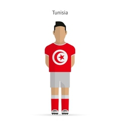 Tunisia football player Soccer uniform vector