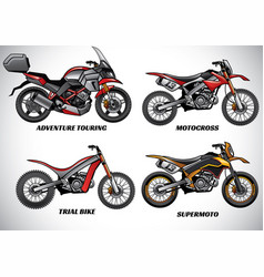 Types of motorcycle part 2 vector