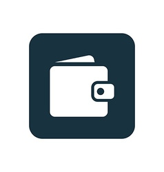wallet icon Rounded squares button vector image vector image