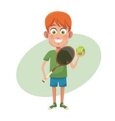 boy sport tennis image vector image vector image