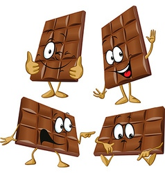 chocolate cartoon with hand gesturing vector image