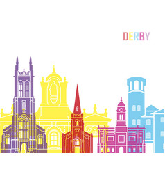 derby skyline pop vector image vector image
