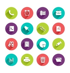 Flat Application Icons Set vector image vector image