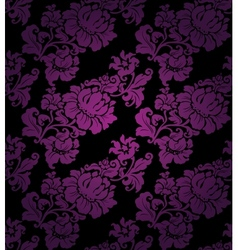floral seamless lilac pattern vector image vector image