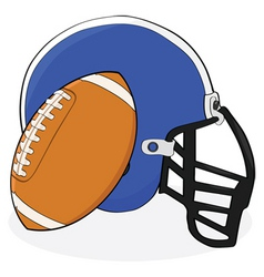 football and helmet vector image vector image